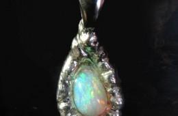 Lightning Ridge Crystal Opal Pendant – SOLD